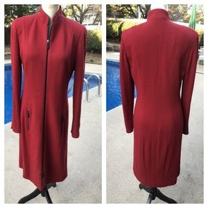 VINTAGE CARLISLE red & black jacket dress